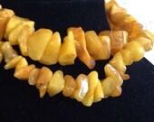 Natural Raw egg yolk Baltic Amber beads
