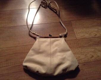 Vintage leather handbag purse shoulder bag