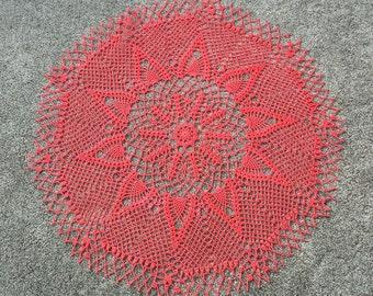 "New 30"" handmade crochet doily, table decoration"