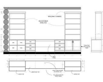 eDesign Custom Built-in Design and Elevations for Your Home Project - Start Deposit