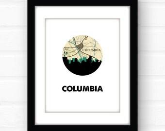 Columbia Sc Art Print South Carolina Home Decor South Carolina Art Print Southern