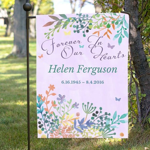 Double Sided Personalized Memorial Garden Flag memorial flag