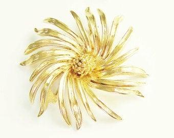 Vintage Chrysanthemum Flower Brooch 60s D'Orlan Boucher