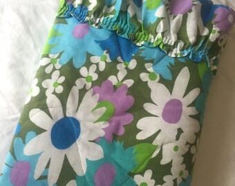 Vintage Floral Pillow Sham, Glamping