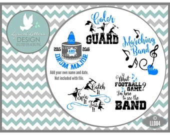 Marching Band Color Guard Drum Major LL084  - Vector - Cutting File - Graphic Design - ai, eps, svg, dxf (for Silhouette users), png, jpg