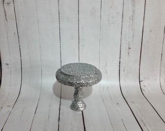 Glitter Cupcake Stand- Silver