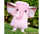 Pink Elephant stuffed animal, Elephant plush toy, Cute elephant plushie doll, kawaii elephant, handmade kids decor, elephant stuffy toy