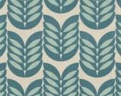 Leaf - Aqua Teal Leaf CANVAS Fabric from Kokka