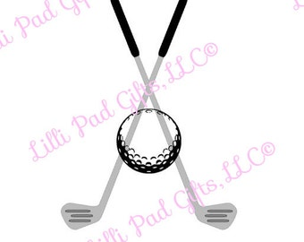 Golf Clubs and Ball - Cut File - Instant Download - SVG and DXF for Cameo Silhouette Studio Software & other Cutter Machines