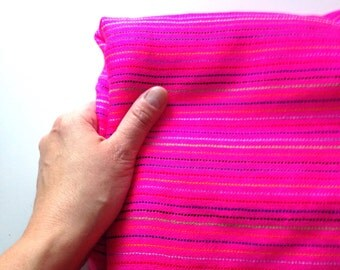 Pink Mexican Fabric -  Three Yard Aztec Tribal Pattern Acrilic Cambaya - DIY Wedding Decor and Baby Wrap Rebozo