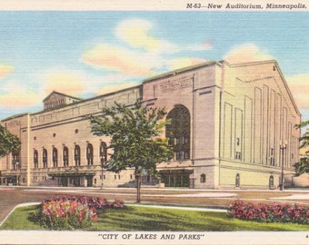 Minneapolis, Minnesota, Auditorium - Vintage Postcard - Postcard -  Unused (O)