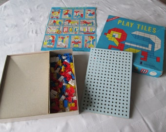 Halsam Play Tiles no. 20 vintage toy Playskool game toy mid century movie set dec Brady Bunch toy childhood memory toys boxed toy game