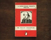 A Midsummer-Night's Dream. The Penguin Shakespeare vintage 1940s book by William Shakespeare