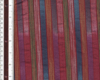 "Yarn-Dyed Homespun Multi-Colored Ombre Stripes - 41"" - 100% Cotton Fabric"