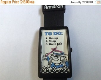 WATCH CLEARANCE EVENT Vintage Armitron Fun cartoon watch To Do List