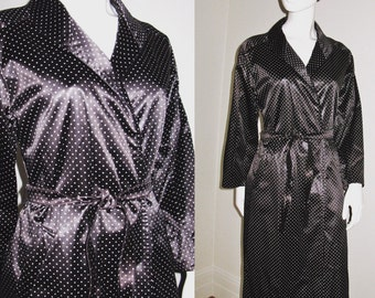 Vintage 1960s Givenchy Nouvelle Boutique Black and White Polka Dot Belted Rain Coat Jacket with Pockets