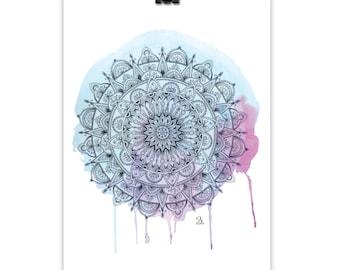 Mandala Masala // Art Print, Wall Art, Giclee Print, Mandala Print, Pencil Drawing