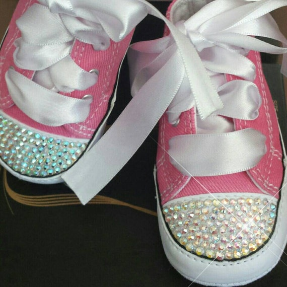 pink converse baby bling shoes matching by