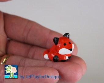 Fox Polymer Clay Figurine Sculpture