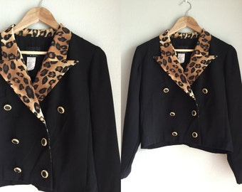 Cropped double breasted blazer size medium