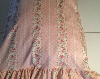 Light Pink Shabby Chic Pillow Case /Pillow Cover with or without ruffle