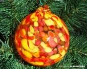 Hand Blown Glass Ornament - Hot Color Mix