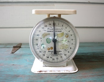 American Family Scale, Vintage Kitchen Scale, Metal Kitchen Scale, Home Decor