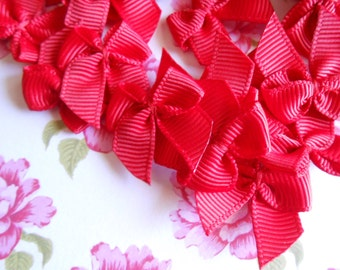 Red Bows Grosgrain 20pcs.