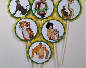 Jungle Book Cupcake Toppers