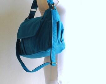 Halloween SALE - 30% Mini Pico in Teal (Water Resistant) Kid Bag/ Messenger Bag / Handbag / School Bag/ Travel Bag/Diaper Bag/ School Bag/ W