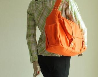 Halloween SALE - 30% Pico2 in Orange (Water Resistant) Shopping Bag / Shoulder Bag / Messenger Bag / Diaper Bag/Diaper Bag/ School Bag/ Wome