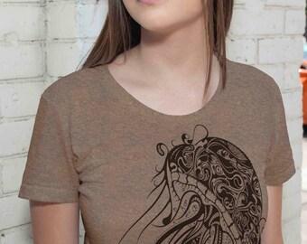 Jellyfish T Shirt - Nautical Sea Tshirt Ocean Beach Marine Gift Present Gifts For Her Mom Girlfriend