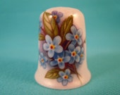 Thimble Bone China with Forget-me-nots