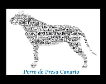 Perro de Presa Canario, Presa Canario, Custom Presa Canario, Personalize Presa Canario, Presa Canario Art, Presa Canario gift