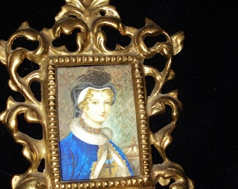 Miniature Portrait Mary Queen Of Scots