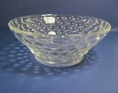 Vintage BUBBLE SOUP BOWLS Cereal Set/5 Clear Glass