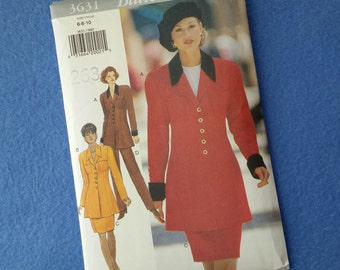Misses' / Misses' Petite Jacket, Skirt, and Pants Uncut Vintage Sewing Pattern Butterick 3631, sizes 6 8 10