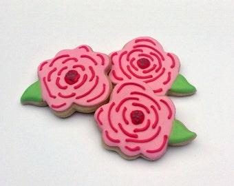 Mini Flower Sugar Cookies - 2 1/2 Dozen Mini Cookies