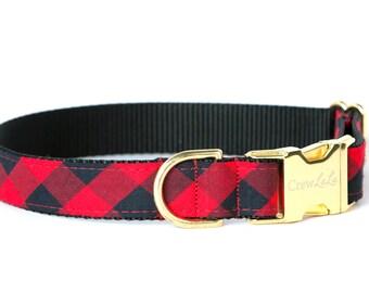 Crew LaLa™ Buffalo Plaid Dog Collar