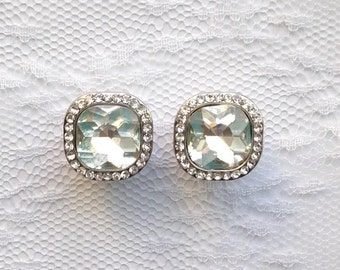 """Silver Clear Jewels Fancy Vintage Style Wedding Pair Plugs Gauges Size: 00g (10mm), 1/2"""" (12mm), 9/16"""" (14mm)"""