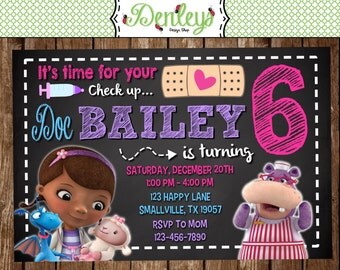 Doc McStuffins Birthday Invitation (DM02)
