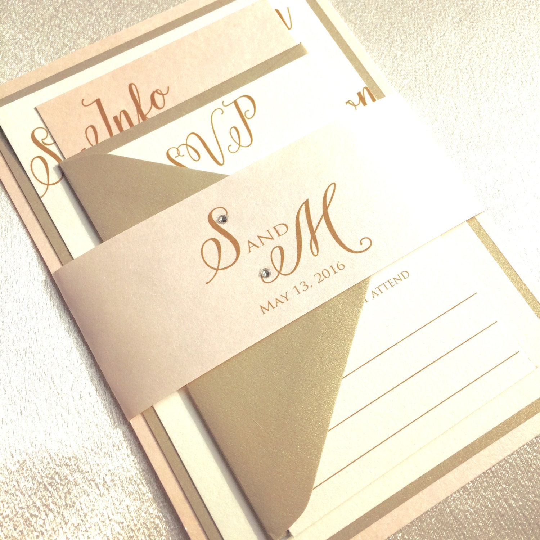 Gold Wedding Invitations: Wedding Invitations Gold Wedding Invitation Blush And Gold