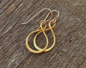 Infinity Hoop Earrings in Gold