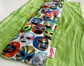 Lucha, Masks, Green, Burp Cloth