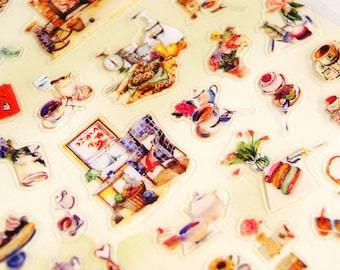 Afternoon Garden - Translucent Die Cut Deco Sticker - Daisyland - 1 Sheet