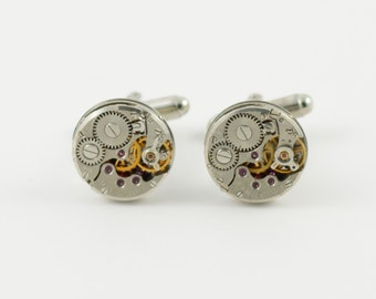 Steampunk Watch Movement Cufflinks -- CHOOSE YOUR STYLE!!!