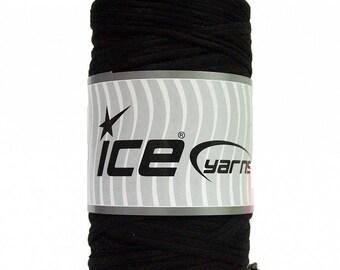 Black T-shirt Yarn - 87 yards - 400 g/14 oz - Fabric Selvedge