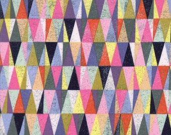 Colorful Geometric Triangle Fabric - Saturday Morning by Basicgrey from Moda - 1/2 Yard