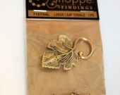 DESTASH  Large Leaf Toggle Clasps, Jewelry Supplies,  New 1 Toggle Clasp, CKDesigns.US
