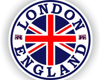 London England Seal Sticker Round Flag Union Jack for Laptop Book Fridge Guitar Motorcycle Helmet ToolBox Door PC Boat